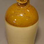 Queen's Arms stoneware bottle
