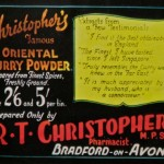 Christopher curry powder advertisement