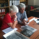 Gill's visit to the National Monuments Record in Swindon