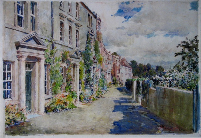 W.H. Allen painting, Tory, Bradford on Avon