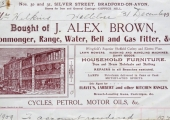 J. Alex Brown billhead 1909