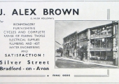 J. Alex Brown advertisement, 1950s