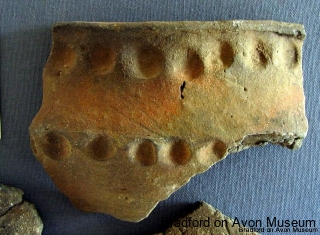 Iron Age pottery fragment from Budbury, Bradford