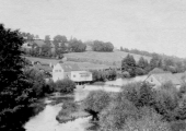 Avoncliff weir and mill on the Winsley side