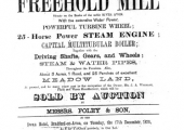 Sale particulars of Avoncliff Mill 1878
