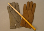 examples of Beaven gloves and a measure