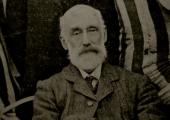 A.J. Beaven as President of Holt Football Club 1907