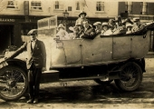 Small charabanc outing in New Canal, Salisbury