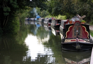 Barges on the Kennet & Avon Canal, Bradford on Avon