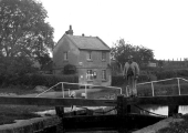 George Andrews, the lock keeper c1925, Bradford on Avon  Kennet & Avon Canal