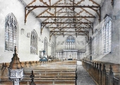 Christ Church interior before 1878, Bradford on Avon