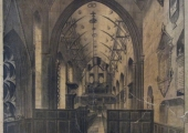 Interior of Holy Trinity Church, before restoration