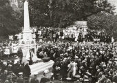 Dedication of the war memorial, Westbury Gardens 1922