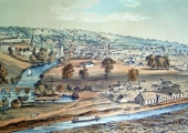 Bradford from Westwood Hill, lithograph by Elizabeth Tackle