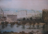 Kingston Mill, from a lithograph by Elizabeth Tackle