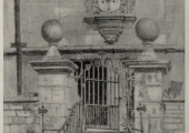 Hall's Almshouse, printed after a drawing by Edward Walker 1943