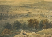View from Brown's Folly, lithograph by Elizabeth Tackle 1850s