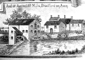 Avoncliff Mill, Winsley, advertising engraving