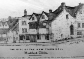 Site of the new Town Hall, from a drawing