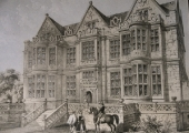 The Duke's House (The Hall), engraving after Charles Richardson