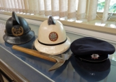 Wiltshire firemen\'s helmets, Bradford on Avon Museum