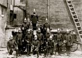 Bradford on Avon, Wiltshire Fire Brigade with ladder and pump
