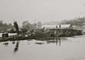 flood at Barton Bridge, Bradford on Avon 1925