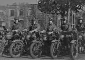 motorcycle despatch riders, WW2, Bradford on Avon