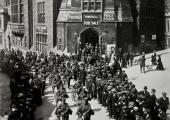 Army Cyclists, Market Street, Bradford on Avon 1915