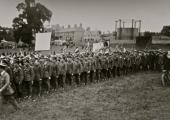Armistice parade, Victory Field, Bradford on Avon 1918