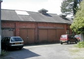 old timber yard buildings, Keates\' Garage, Frome Road