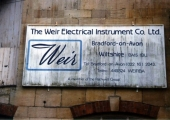 Weir Electrical sign, Greenland Upper Mills