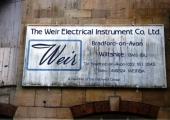 Weir Electrical sign, Greenland Upper Mills