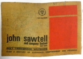 label of Sawtell bed factory, Holt