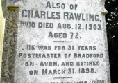 Charles Rawling, printer postmaster, died 1903