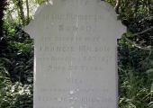 Sarah Milsom, wife of Francis, died 1872