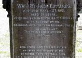 Walter John Edwards, butcher\'s son, died 1910
