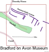 Map of the area south of Winsley