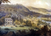 Stoke House, from an 1850s lithograph