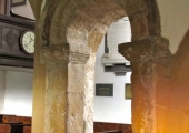 Saxon doorway, St Mary\'s Church, Limpley Stoke