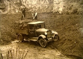 Loading spent compost in Jones' Quarry in 1935