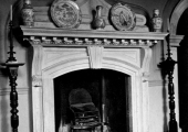 The Priory- Great Hall fireplace, Bradford on Avon