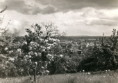 View over the town from Priory Park, Bradford on Avon