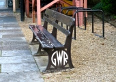 Bradford on Avon station GWR seat