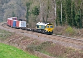container train between Freshford and Avoncliff