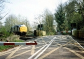 Bradford on Avon level crossing in 1990