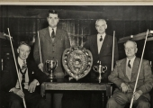 Bradford on Avon Town Club billiards team 1956