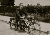 Jim King on a Douglas motorcycle 1924