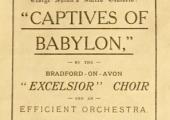 Choir performance programme 1913