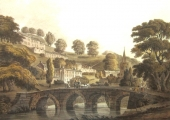 Barton Bridge by J.C. Nattes, Bradford on Avon